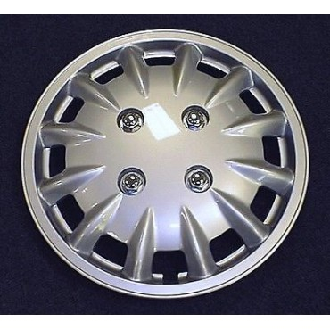 "Pair Of Milenco Caravan 13"" Silver Wheel Trims"