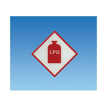Caravan Campervan Gas Box Tufflex Lpg Gas Sticker