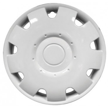 "Pair Of Jupiter Caravan 14"" White Wheel Trims"