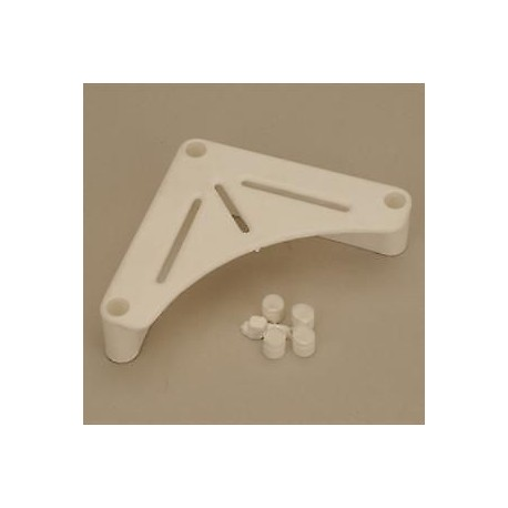Caravan / Motorhome White Table Support Bracket - Pack Of Two