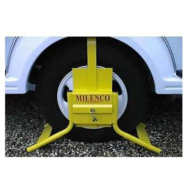 "Caravan Milenco C13 Wheel Clamp - Fits 13"" Single Axle & 14"" Twin Axles"