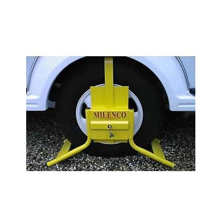 "Milenco C14 Wheel Clamp - Fits 14"" Single Axle & 15"" Twin Axles"
