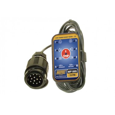 Maypole 13 pin Towbar Socket Electrical Tester with 3.5m Cable