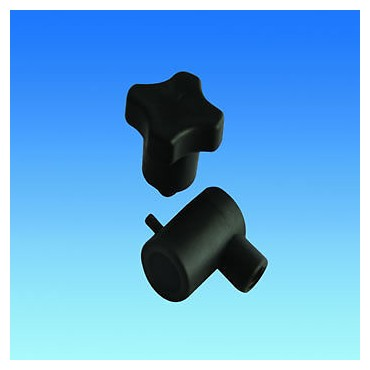 Caravan Window Stay Lock Knob & Holder - Black