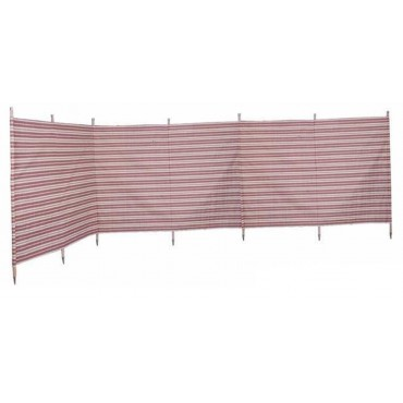 Blue Diamond 7 Pole Windbreak - Burgundy / Cream Stripe