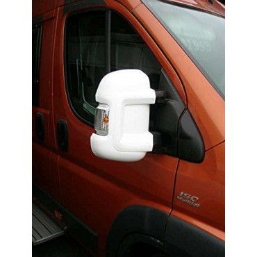Milenco Van Mirror Protectors - To suit Ducato, Boxer, Relay 2006 on - White