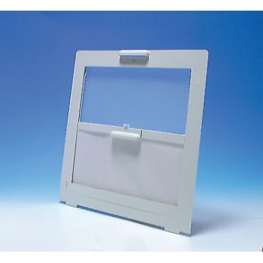 Caravan 400x400 Rooflight Flyscreen & Blind - White