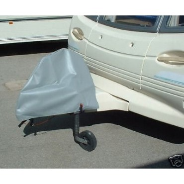 Caravan Deluxe Hitch Cover - Grey - Buckle Fastenings