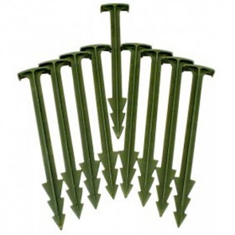 "Greenstake Biodegradable Tent Pegs - Pack Of Ten - 4"" / 10cm"