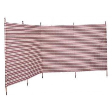 Blue Diamond 5 Pole Windbreak - Burgundy / Cream Stripe