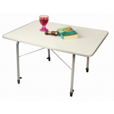 Kampa Hi-Lo Lightweight Folding Camping Medium Table with Adjustable Legs
