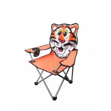 Caravan Camper Tent Childs Foldaway Chair - Tiger