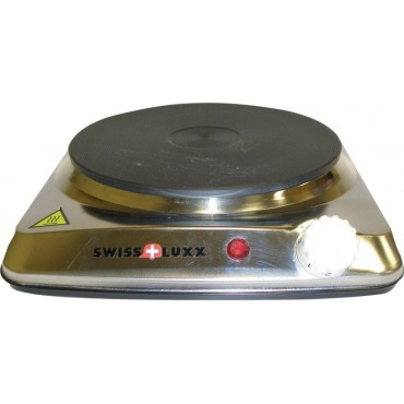 Swiss Lux Low Wattage (750w) Stainless Steel Single Hot Plate / Electric Hob