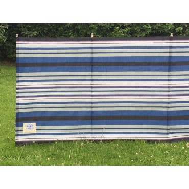 Blue Diamond 7 Pole Windbreak - Navy / Burgundy Contemporary Stripe