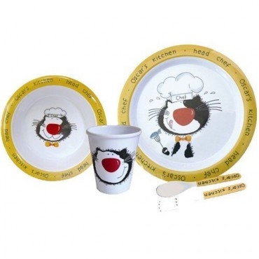 Melamine Child Set - Oscar's Kitchen - 5 Piece