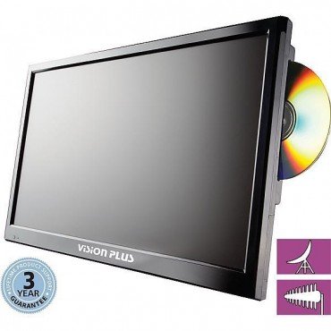 "Vision Plus 21.5"" Portable Digital Led Hd Tv, Dvd & Satellite Receiver"