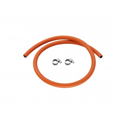 Calor 1m 8mm Low Pressure Gas Hose & 2 Hose Clips