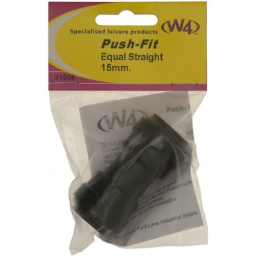 Caravan Camper Pipe Quick Push Fit 15mm Straight Join
