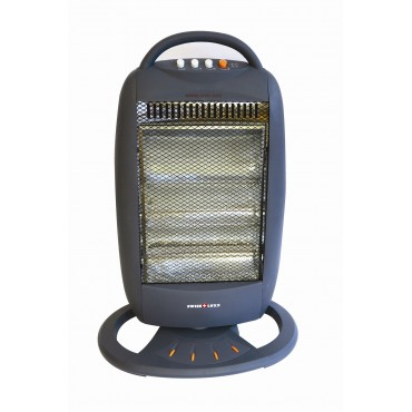 Swiss Lux 3 Bar Electric Oscillating Halogen Heater - Low Wattage 400/800/1200W