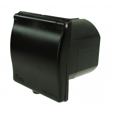 Camper Square Mains Inlet - Black