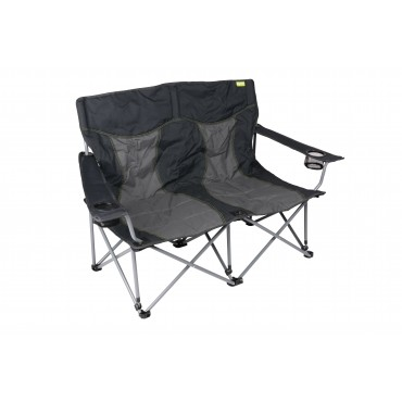 Kampa Lofa Two Seater Compact Folding Camping Chair - Charcoal
