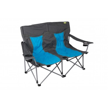 Kampa Lofa Two Seater Camping Chair - Blue