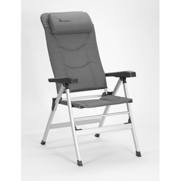 Isabella Thor Lightweight Alloy Folding Reclining Camping Chair - Light Grey