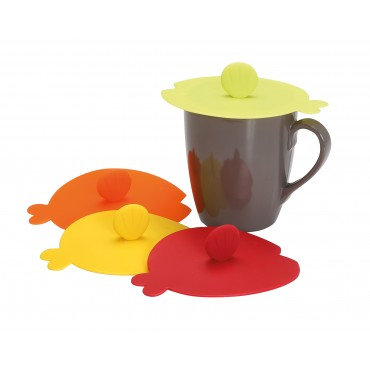 Gimex Set of 4 Funky Drinks Cup / Mug Lid