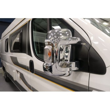 Milenco Ducato / Boxer /  Relay Camper Short Arm Chrome Mirror Protector Cover