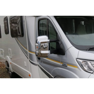 Milenco Ducato / Boxer /  Relay Motorhome Long Arm Chrome Mirror Protector Cover