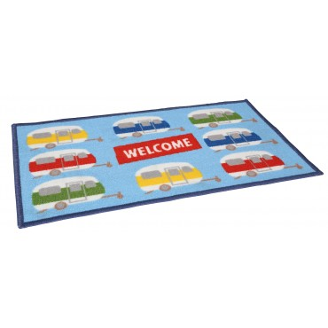 "Quest Caravan ""Welcome"" Machine Washable Door Mat"