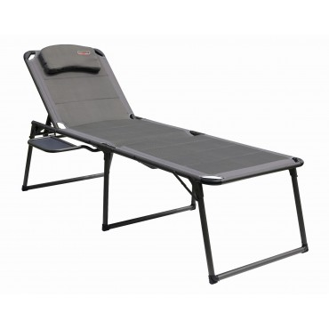 Quest Elite Naples Pro Range Padded Lounger and Camp Bed with Side Table