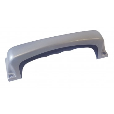 Steel Grab Handle with Black Rubber Insert - 150mm Centres
