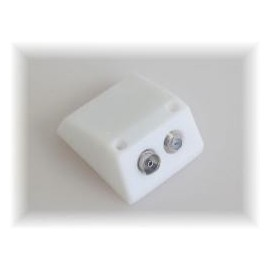Surface Mount TV & Satellite Socket