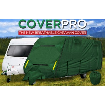 CPL CoverPRO Heavy Duty Green Caravan Cover to suit Caravans from 14' to 17'