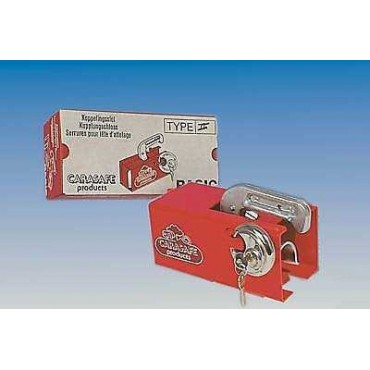 Caravan Trailer Hitch Lock Hitchlock - Universal Red