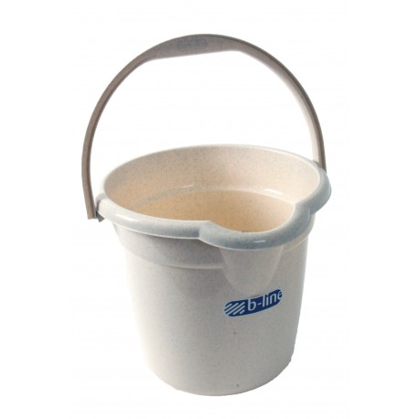 Plastic 12.5 Litre 2.25 Gallon Window Home Cleaning Bucket - Oatmeal
