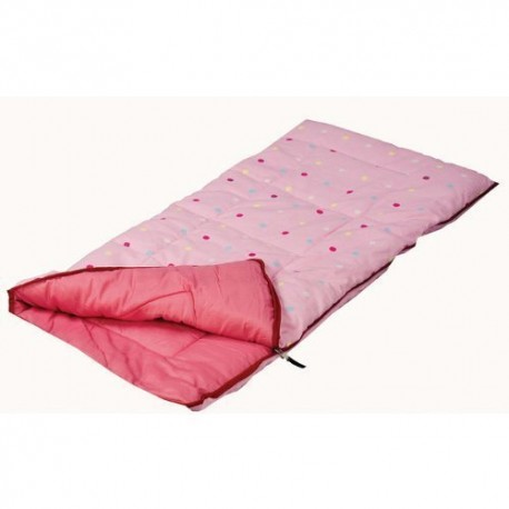 SunnCamp Pink Dotty Junior Sleeping Bag with Stuff Sac