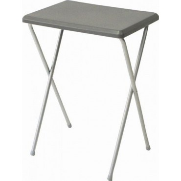 Quest Fleetwood Senior High Folding Camping Table - Grey