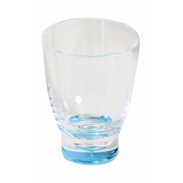 Low Polycarbonate Tumbler 'Glass' - Blue