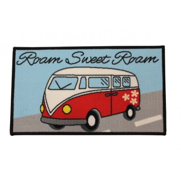 """Roam Sweet Roam"" Machine Washable Door Mat"