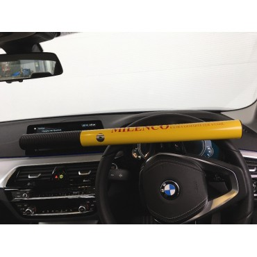 Milenco High Security Anti-theft Yellow Steering Wheel Lock - Sold Secure Gold