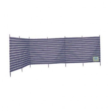 Blue Diamond 7 Pole Windbreak - Navy / Cream Stripe