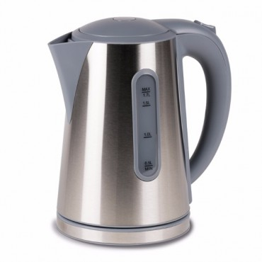 Kampa Modern 1.7 Litre Stainless Steel Low Wattage Electric Kettle