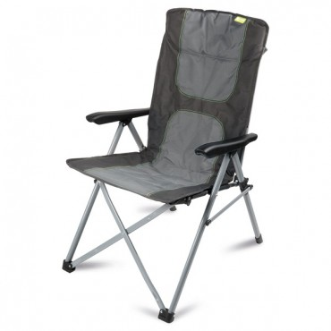 Kampa Consul Folding Reclining Camping Chair - Charcoal