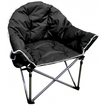 Comfort Padded Folding Tub Chair - Black