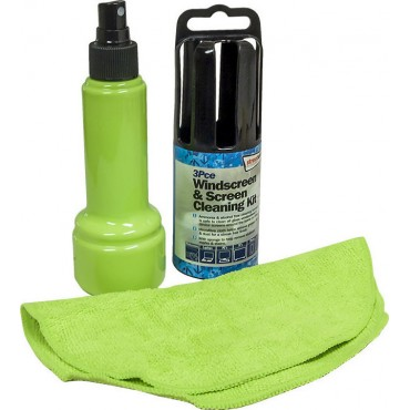 Streetwize 3 Piece Windscreen, Monitor & TV Cleaning Kit