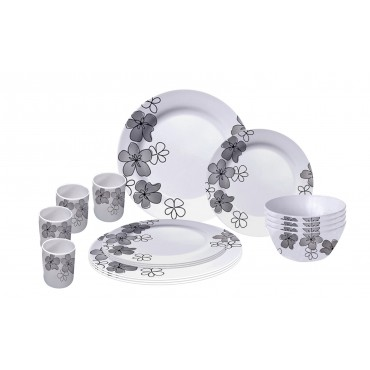 Picnic / Melamine 16 piece Dinner Set - Summer Flowers