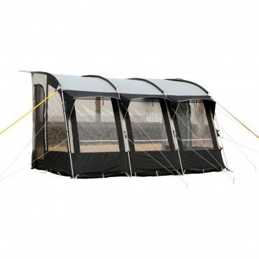Royal Wessex 390 Lightweight Caravan Porch Awning - Black / Silver