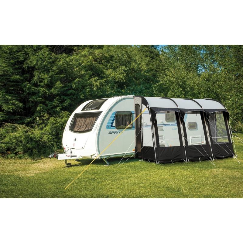 Royal Wessex 390 Lightweight Caravan Porch Awning - Black ...